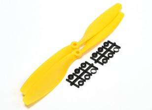 Turnigy Slowfly螺旋桨10x4.5黄色(CW)(2个)