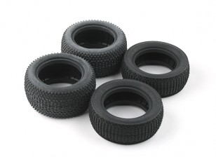 前后轮胎套(4件) -  BSR赛车BZ-222 1/10两轮驱动赛车