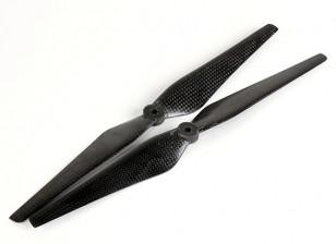 Mulirotor碳纤维螺旋桨12x4.3黑色(CW / CCW)(2个)