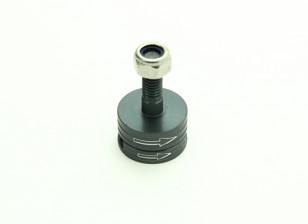 CNC铝合金M6快拆自紧道具适配器套装 - 钛(顺时针)