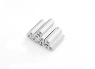 轻质铝合金六角科间隔M3 x17毫米(10件/套)