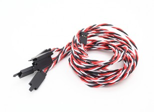 扭曲的60厘米伺服铅延伸(双叶)用钩22AWG(5片/袋)