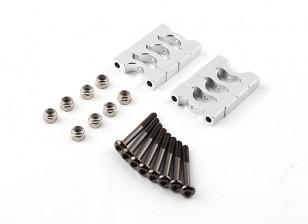 银色阳极氧化CNC超级轻合金管夹直径8mm(4只)