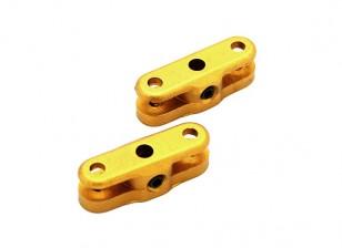 25毫米折叠螺旋桨适配器3毫米轴(金)1对