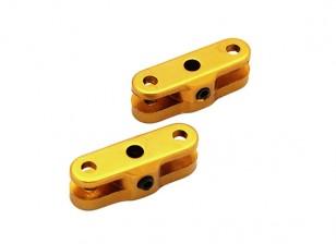 25毫米折叠螺旋桨适配器3.17毫米轴(金)1对