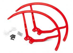 8英寸塑料通用多旋翼螺旋桨后卫 - 红(2套)