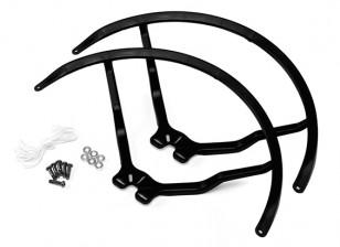 9寸塑料通用多旋翼螺旋桨后卫 - 黑色(2套)