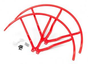 10英寸塑料通用多旋翼螺旋桨后卫 - 红(2套)