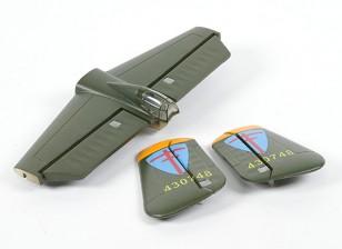 HobbyKing B-251250毫米 - 更换主翼尾集