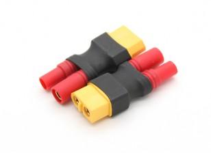 HXT3.5mm到XT60电池适配器(2件/袋)