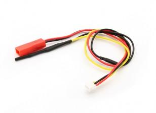 飞行包电压和为OrangeRx遥测系统温度传感器。