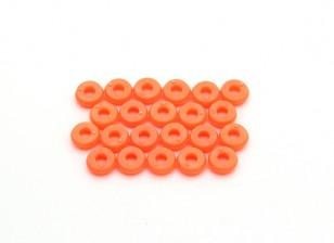 塔罗牌450的Pro /临V2 DFC M2.5雨棚垫圈 - 橙色(TL2819-02)