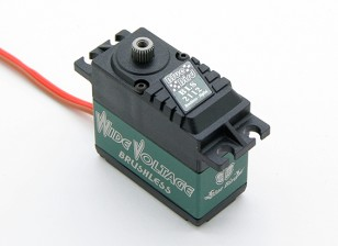 BLS-2112宽电压(4.8〜7.4V)无刷数字伺服瓦特/钛合金齿轮21.5公斤/ .12sec /66克