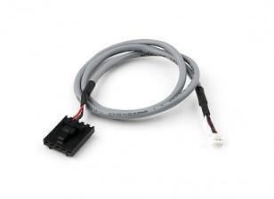 400毫米5针Molex / JR到4针白色连接器屏蔽铅