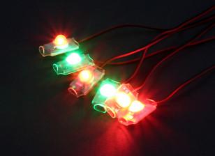 Turnigy超亮4×红/ 2×绿色LED灯组具有低电压报警