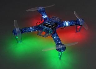 HobbyKing FPV250 V4蓝色幽灵版LED小夜灯传单FPV四轴飞行器(蓝色)(套装)