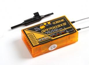 OrangeRx GA7003XS双叶FASST兼容7CH的2.4GHz接收器,具有3轴稳定FS和系统总线