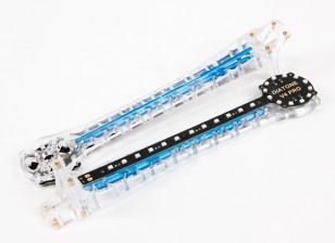 上翘的LED升级V500 / H550和DJI Flamewheel多轴飞行器(蓝色)武器(2个)