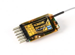 OrangeRx SF400S双叶FHSS兼容4声道的2.4GHz接收器与FS和系统总线