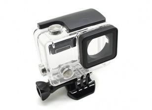 骷髅保障性住房与镜头GoPro的英雄3加