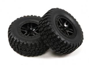 1/10比例5辐分体式短途卡车车轮和轮胎(2PC)