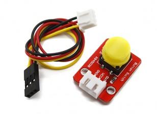 凯斯按键模块采用3引脚杜邦线的Arduino