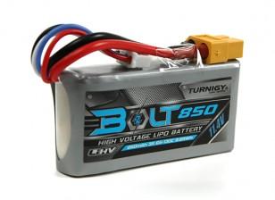 Turnigy博尔特850毫安3S 11.4V 65〜130℃的高压Lipoly包(LiHV)