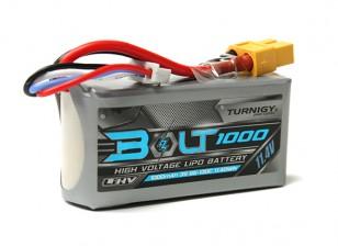 Turnigy博尔特1000mAh的3S 11.4V 65〜130℃的高压Lipoly包(LiHV)