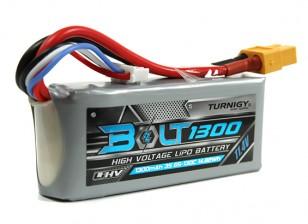 Turnigy博尔特1300mAh的3S 11.4V 65〜130℃的高压Lipoly包(LiHV)