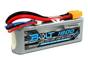 Turnigy博尔特1800mAh的3S 11.4V 65〜130℃的高压Lipoly包(LiHV)
