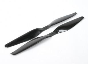 DYNAM 17x5.5碳纤维螺旋桨的多轴飞行器(顺时针和逆时针)(1对)