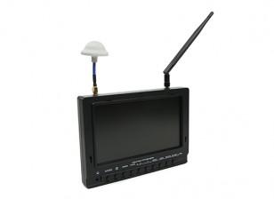 7英寸800×480 40CH分集接收机孙可读FPV监控瓦特/ DVR的FieldView 777(UK仓库)