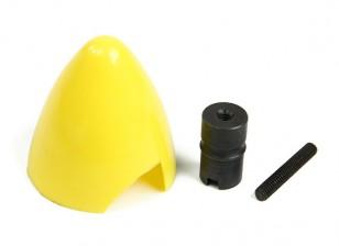 考克斯.049 / .051塑料微调和发动机集线器(黄色)