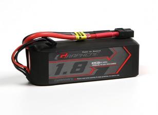 Turnigy石墨烯1800mAh的4S锂聚合物65包瓦特/ XT60