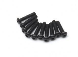 金属圆头机六角螺丝M2.5x12-10个/套