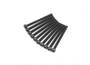 金属六角机六角螺丝M4x45-10pcs /套