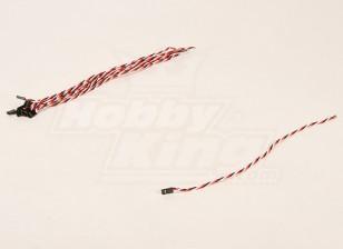 30厘米男22AWG双绞线(10片/袋)