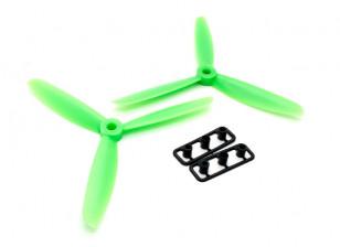 GemFan 5045 ABS 3叶螺旋桨顺时针/逆时针树立绿色(1对)