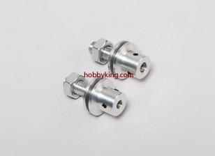 道具适配器W /钢螺母M8x6mm轴(埋头螺钉型)