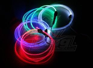 光纤灯为夜间飞行(绿色)