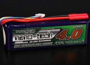 Turnigy纳米技术4000mAh的5S 25〜50℃前列包