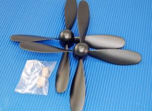 Hobbyking™4叶螺旋桨7x3.2黑色(CCW)(1个)