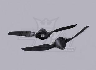 折叠式螺旋桨W /集线器40毫米/4.0毫米轴10x6(2个)