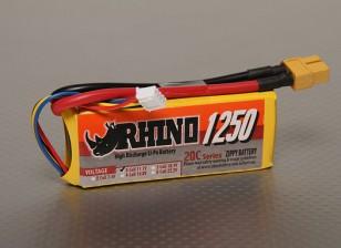犀牛1250mAh的3S1P 20C Lipoly包
