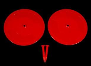 遥控车轨道漂移标记红色2×200毫米