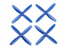 Dalprop Q4045 Bull Nose 4 Blade Propellers CW/CCW Set Blue (2 pairs)