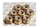 钛金色阳极氧化铝M3 NYLOCK螺母(8件)