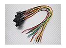 Molex公司5针电缆母接头230毫米点¯x26AWG线材(5件)