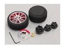 铝合金枪控转向轮10辐条(红)