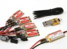KINGKONG 12A OPTO ESC BLHeli(2-4S)(4件)组合包瓦特/ UBEC和编程适配器
